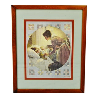 Vintage Norman Rockwell Mother's Little Angel Framed Print For Sale