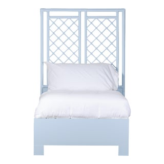 X & Diamond Bed Twin - Blue For Sale
