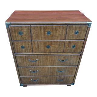 Drexel Heritage Accolade II Campaign Style Dresser For Sale
