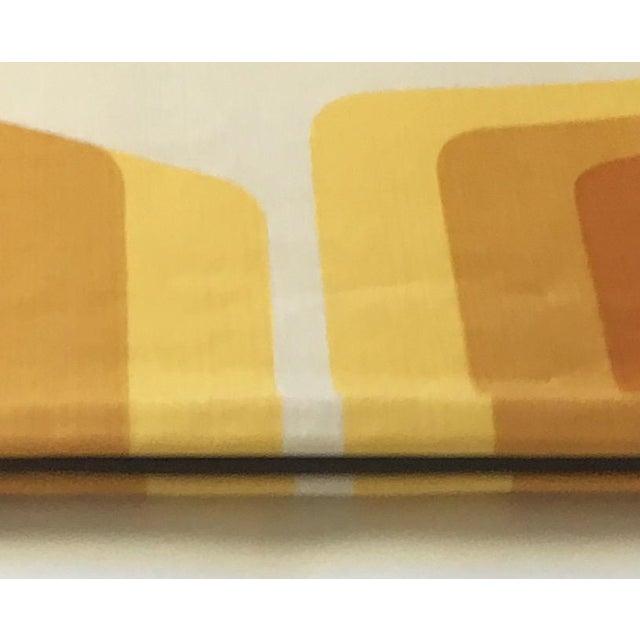 Yellow 1970s Geometric Custom Euro Shams - a Pair For Sale - Image 8 of 9