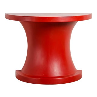 Diva Half Round Table - Red Lacquer by Robert Kuo, Limited Edition For Sale