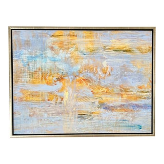 Framed Ocean Abstract #1 Giclee on Archival Canvas For Sale