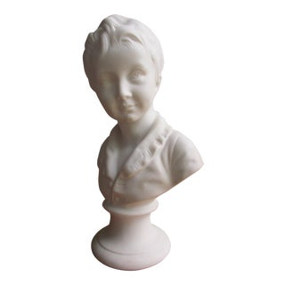 White Bisque Bust of Child - Tharaud of Limoges France For Sale