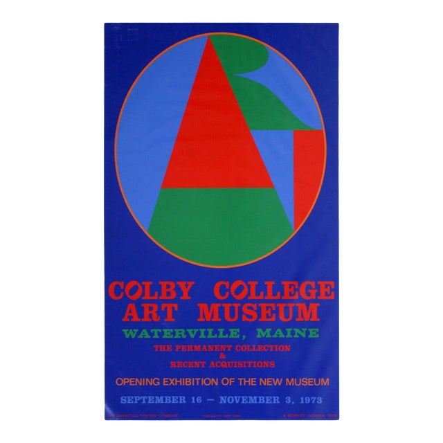 Mid Century Modern Unframed Robert Indiana Coby College of Arts Poster 1970s For Sale