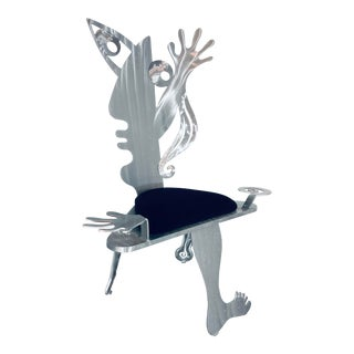 """Contemporary Christopher Royal """"Seated Nude"""" Art Chair For Sale"""