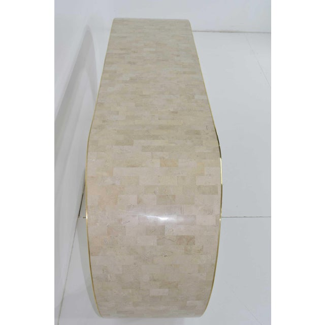 Maitland Smith Tessellated Marble Console For Sale - Image 10 of 11