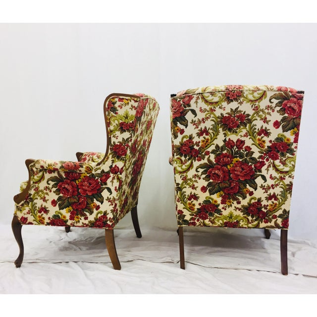 White Vintage Floral Chintz Armchairs - A Pair For Sale - Image 8 of 11