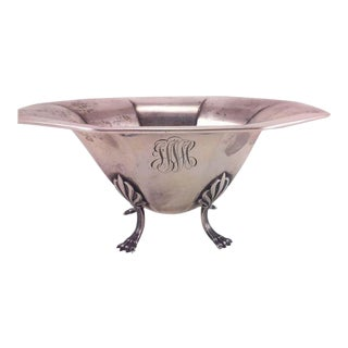 Sterling Silver Bowl With Paw Feet For Sale