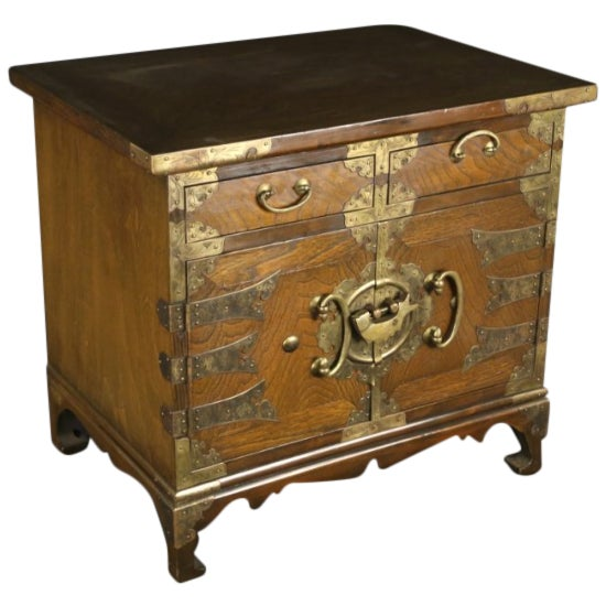 Petite Brass-Bound Chest - Image 1 of 4