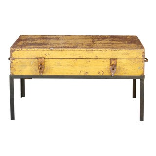 Antique Painted Chemist Box on Stand For Sale