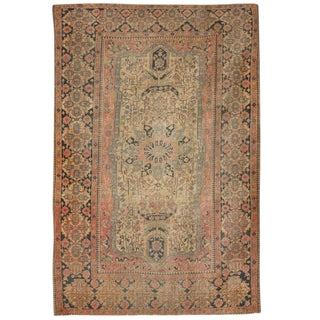 Antique 19th Century Mohtasham Kashan Rug For Sale