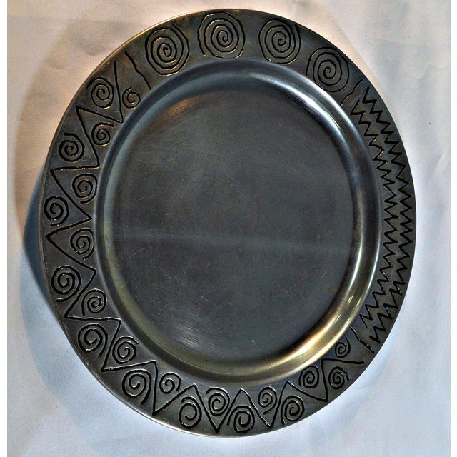 Wilton Co. Pewter Decorative Tray - Image 5 of 5