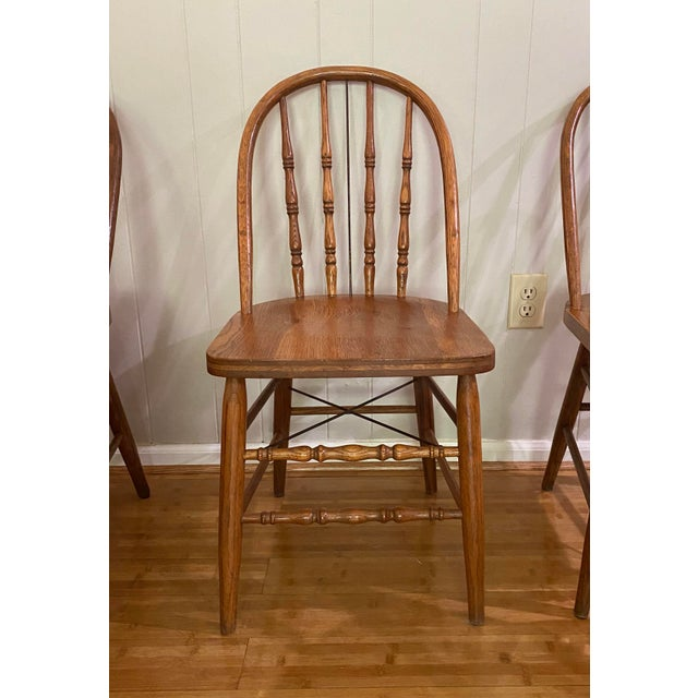 Antique Bow Back Windsor Chairs - Set of 10 For Sale - Image 4 of 12