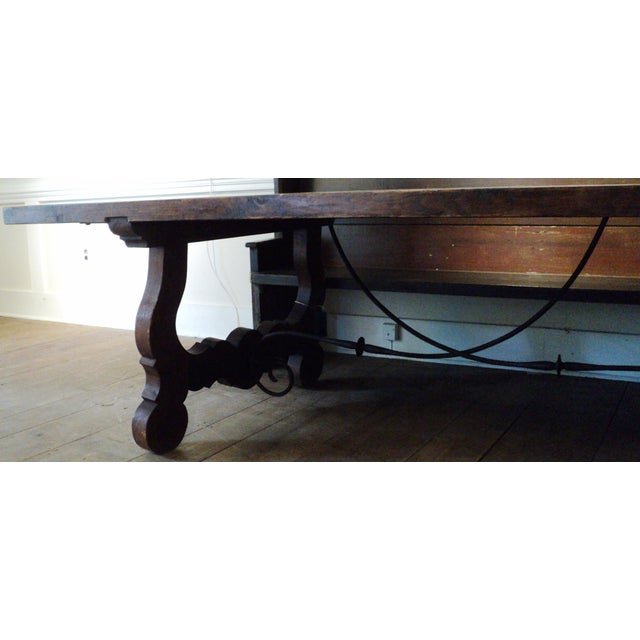 Antique Baroque Large Harvest Table - Image 11 of 11