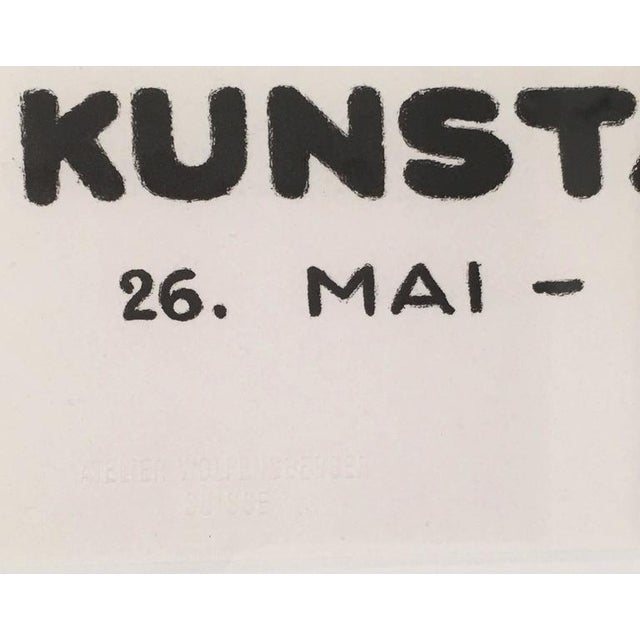 Wood Framed Zurich Art Exhibition Poster After Augusto Giacometti For Sale - Image 7 of 8