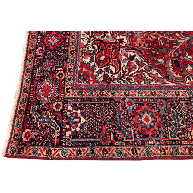 1960s Mid 20th Century Vintage Persian Rug For Sale - Image 5 of 9