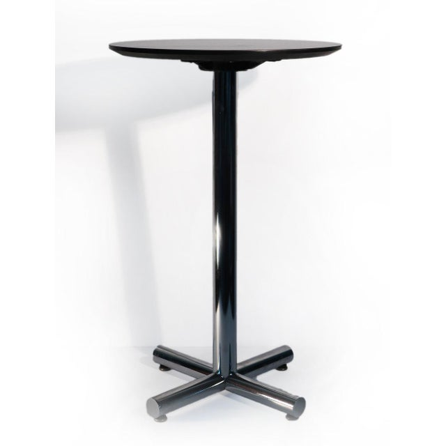 Chrome & Black Side Table - Image 2 of 5