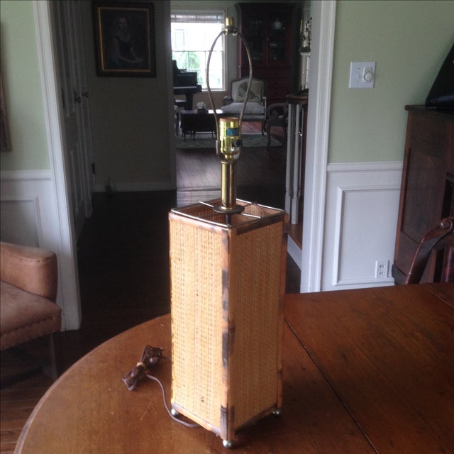 Vintage Rattan Table Lamp - Image 9 of 11