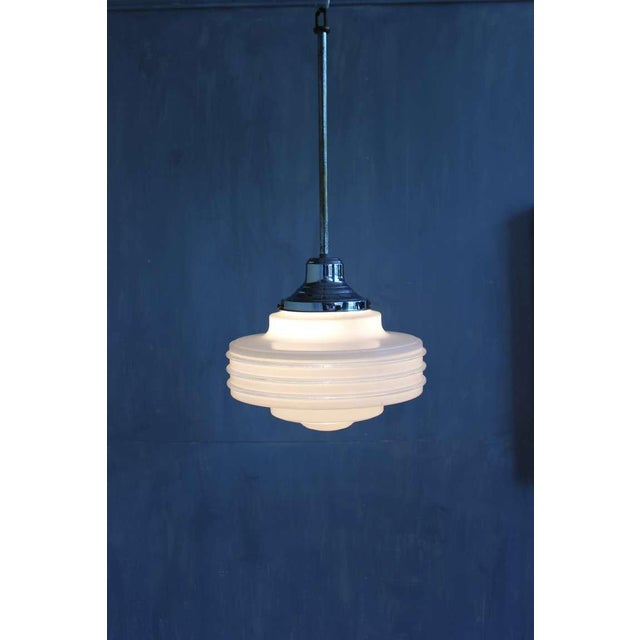 White Frosted Glass Ceiling Fixture For Sale - Image 8 of 10