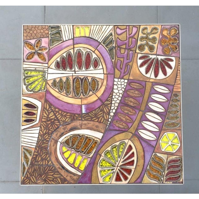 Brent Bennett Studio Ceramic Tile Top Table by Brent Bennett For Sale - Image 4 of 10