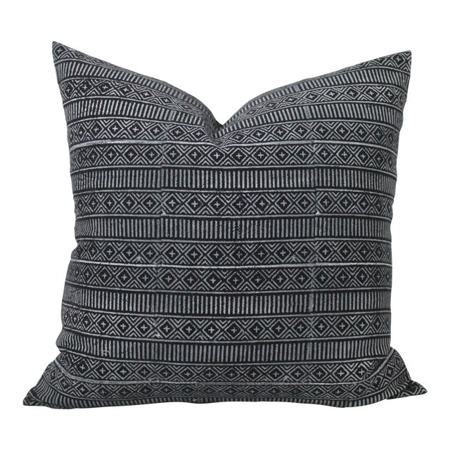 Vintage Geometric Patterned Pillow For Sale