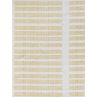 Greige Barre Fabric, 3 Yards, Wheat on Oyster in Linen For Sale