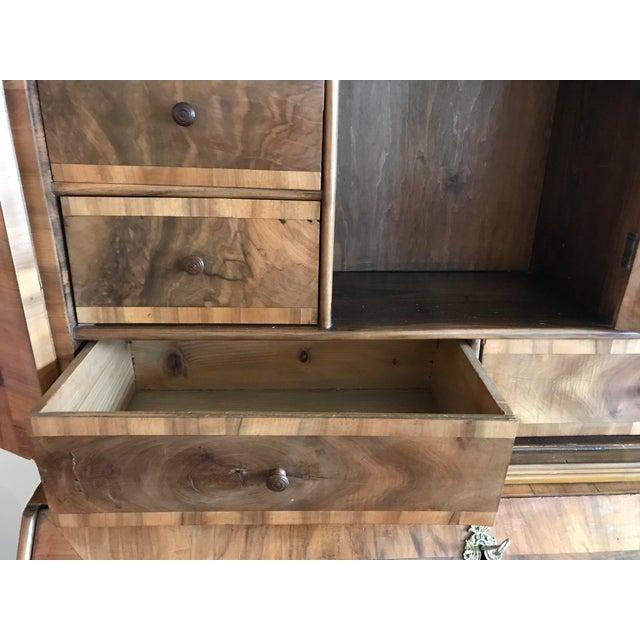 Brown 1700s Italian Drop Front Walnut Secretary Desk For Sale - Image 8 of 12