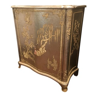 Silvered Chinoiserie Cabinet