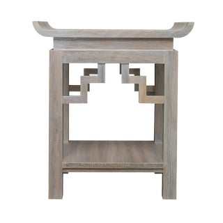 Asian Modern Small Cleo Side Table in Pearl Finish