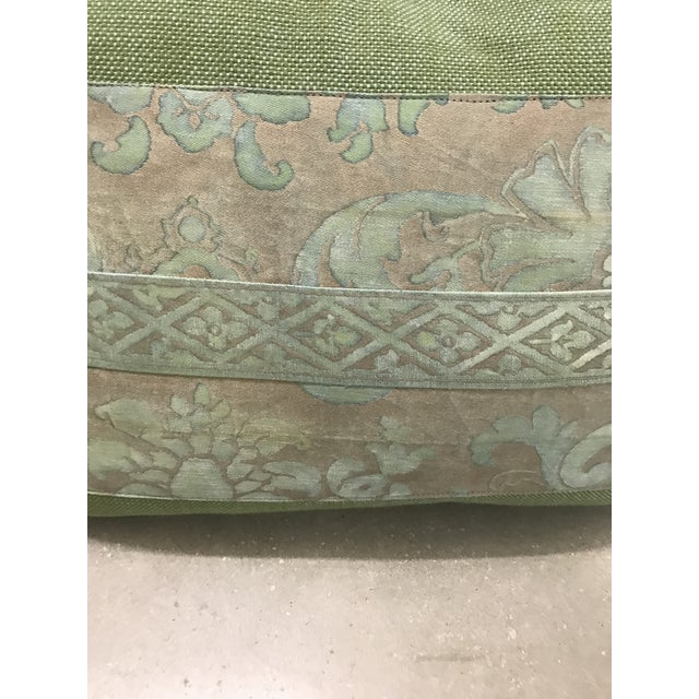 Fortuny Fortuny Green Pillows - a Pair For Sale - Image 4 of 5