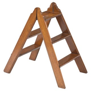 Mahogany Double-Sided Folding Step Ladder, circa 1870 For Sale