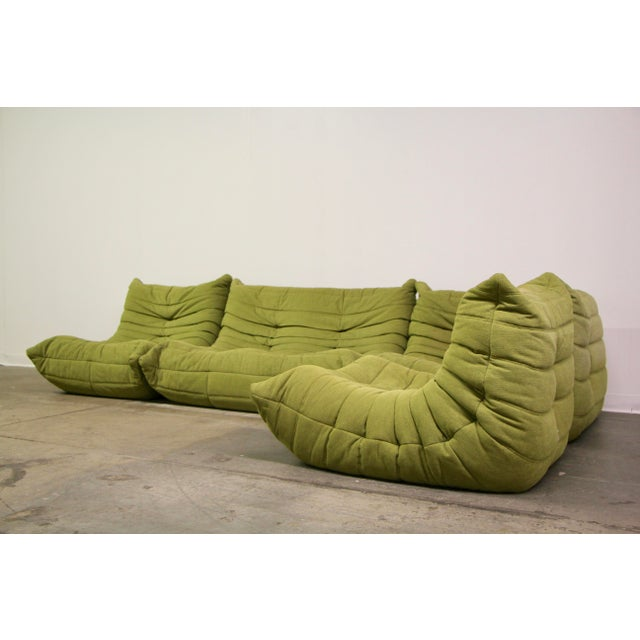 Ligne Roset Togo Sectional Sofa by Michel Ducaroy. Lightly used by one owner. Excellent overall condition with minor sun...