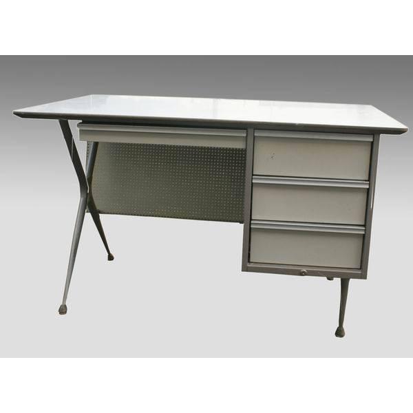 Brunswick Co. Raymond Loewy Brunswick 4 Drawer Office Desk For Sale - Image 4 of 8
