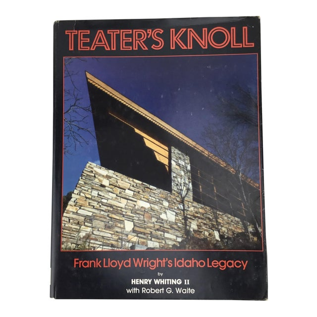 Frank Lloyd Wright Rare Teater's Knoll Book by Henry Whiting For Sale
