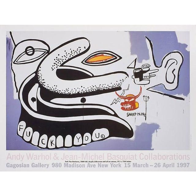 Basquiat Warhol Exhibit Poster - Image 1 of 2