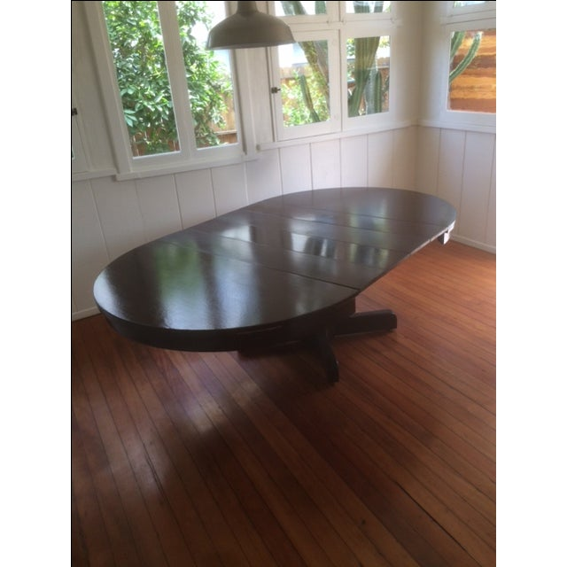 Large Pedestal Dining Table & Four Leaves - Image 2 of 8