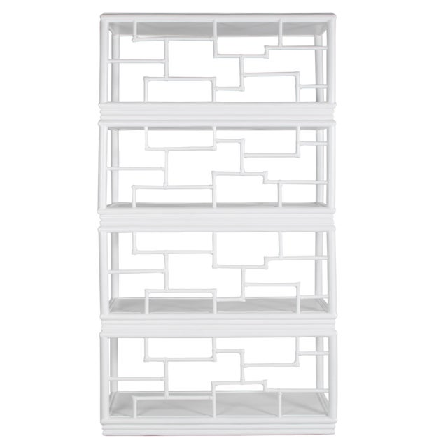 David Francis Tibet Etagere - White For Sale - Image 4 of 10