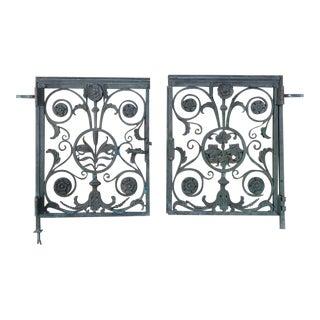 19th Century Bronze for Communion Rail Gates- A Pair For Sale