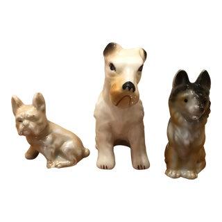 Vintage Miniature Dog Figures - Set of 3 For Sale