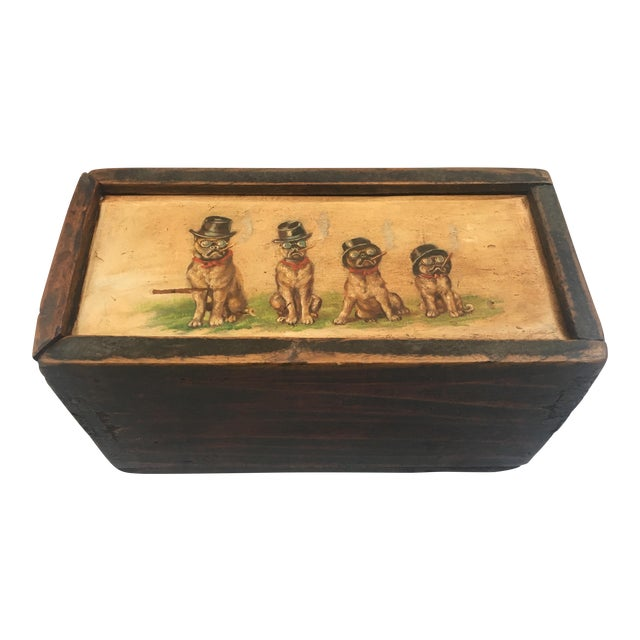 Antique Wooden Mystery Box For Sale