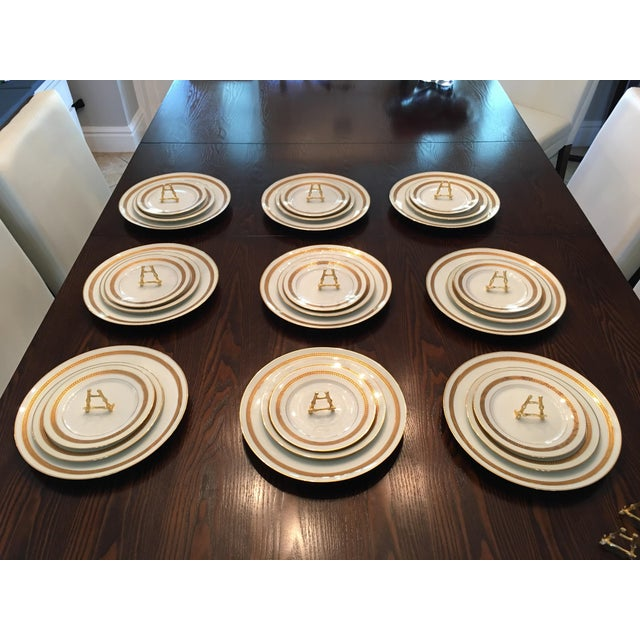 Art Deco Dynamic Vintage China Dinnerware - Set of 9 For Sale - Image 3 of 6