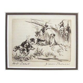 "1936 American Diana Thorne Dog Portrait, ""Hot Scent"" For Sale"