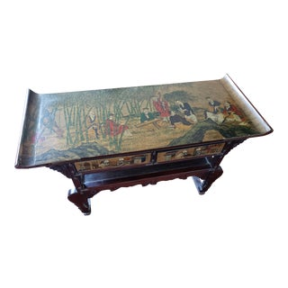 Vintage Asian Antique Wood Altar Table For Sale