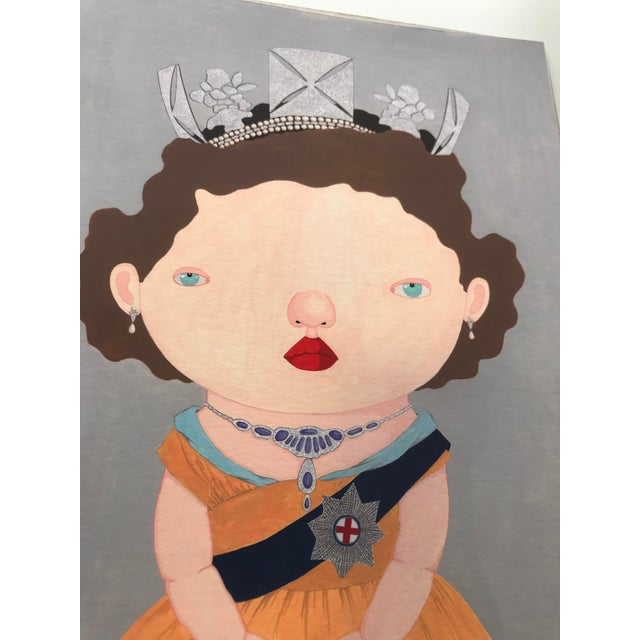 """Orange """"The Last Reigning Queen """" Print by Charles Benton For Sale - Image 8 of 9"""