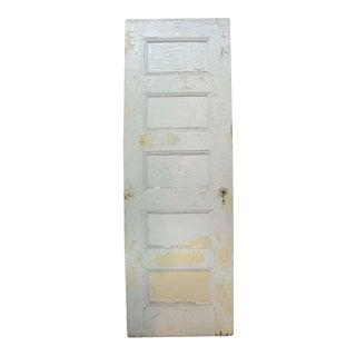 Five Horizontal Recessed Panel Oak White Door
