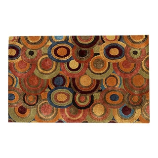 Colorful Circle Rug after Sonia Delaunay