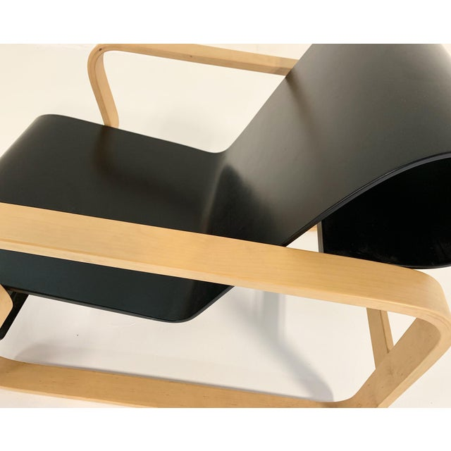 "Black Alvar Aalto Armchair 41 ""Paimio"" Lounge Chair For Sale - Image 8 of 11"