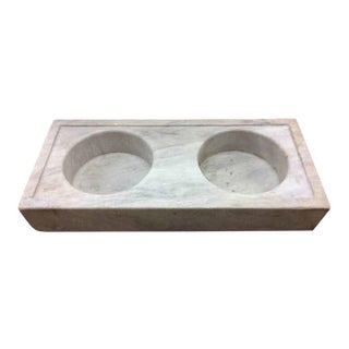 Antique Double Basin Marble Sink, circa 1800s For Sale