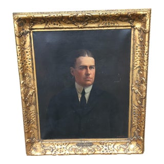 Portrait of Stately Business Man, Early 1900's For Sale