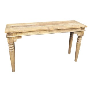 Boho Chic or Farmhouse Style Sofa Table For Sale